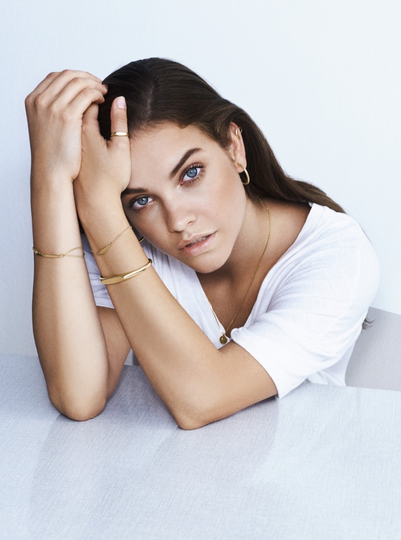 Model Barbara Palvin appears in Pilgrim Jewellery campaign