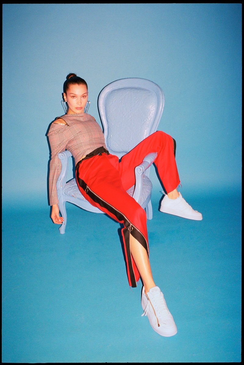 Bella Hadid Models the Coolest Nike Sneakers for Footwear News