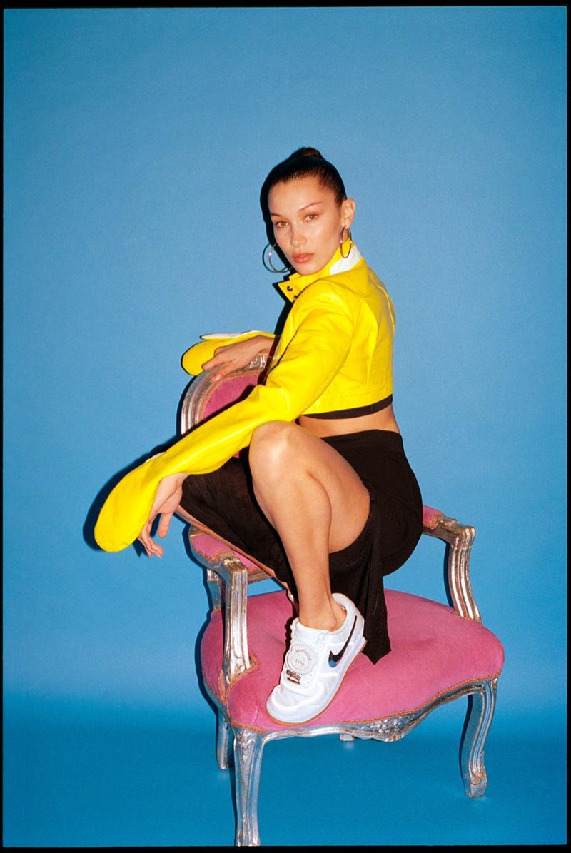 b0cccfdead61 Bella Hadid Models the Coolest Nike Sneakers for Footwear News ...