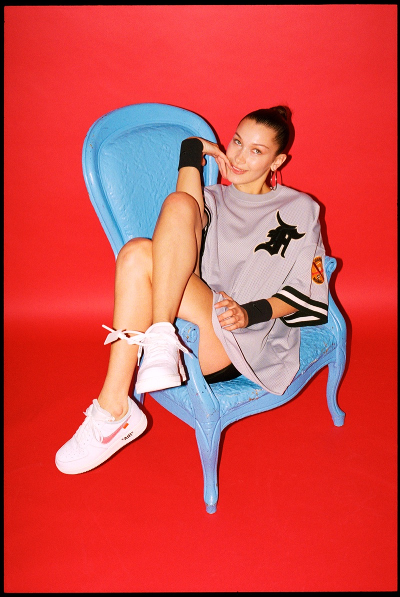 Bella Hadid Models the Coolest Nike Sneakers for Footwear
