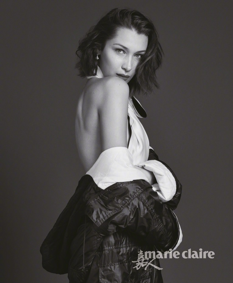 Bella Hadid Models Sleek & Modern Looks for Marie Claire China