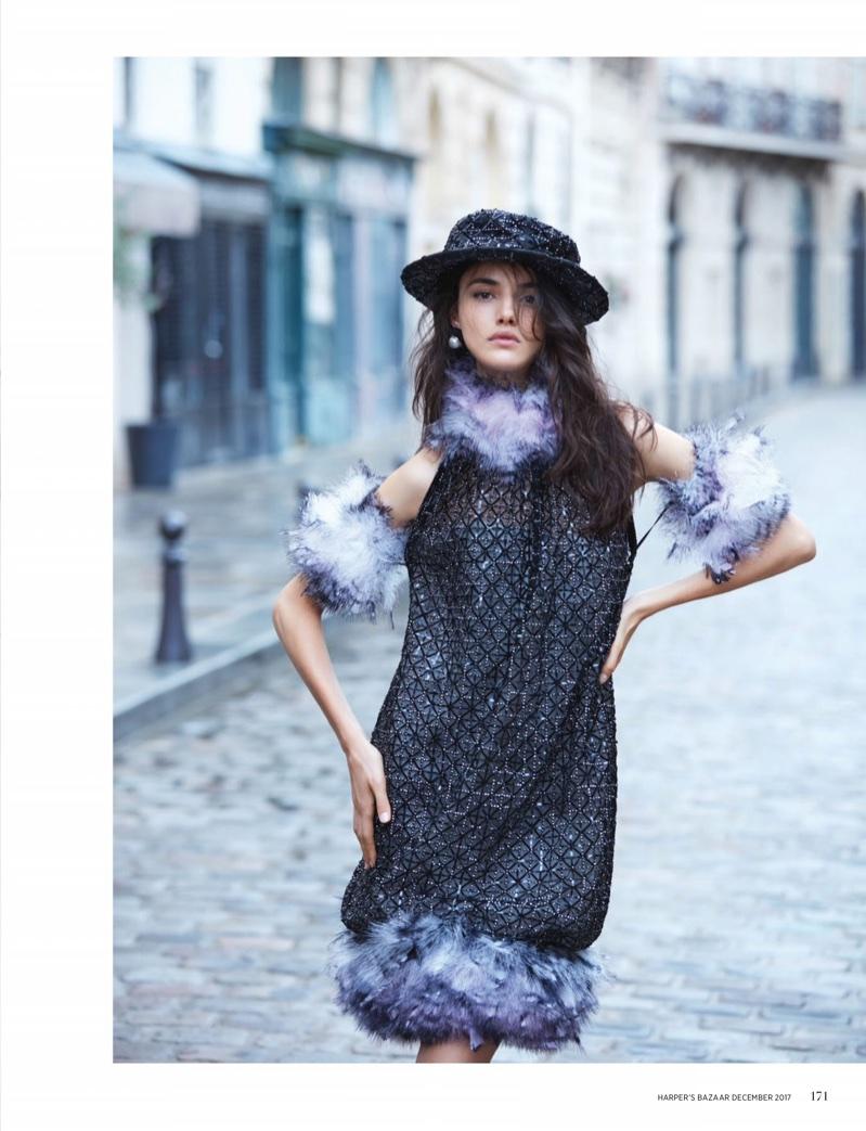 Blanca Padilla Enchants in Haute Couture for Harper's Bazaar Singapore