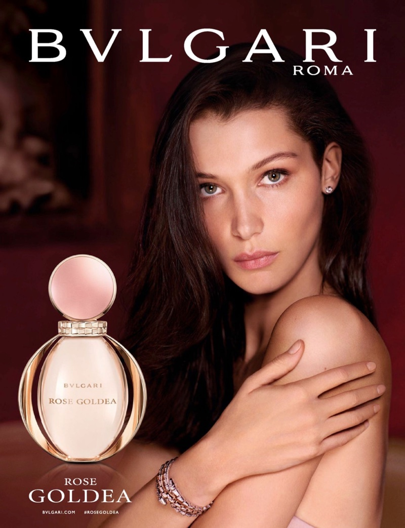 Bella Hadid fronts Bulgari Rose Goldea fragrance campaign