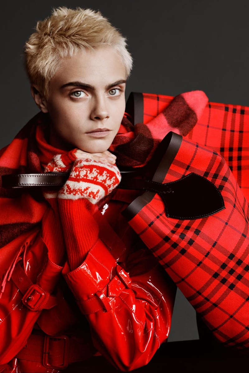 Cara Delevingne fronts Burberry Holiday 2017 campaign