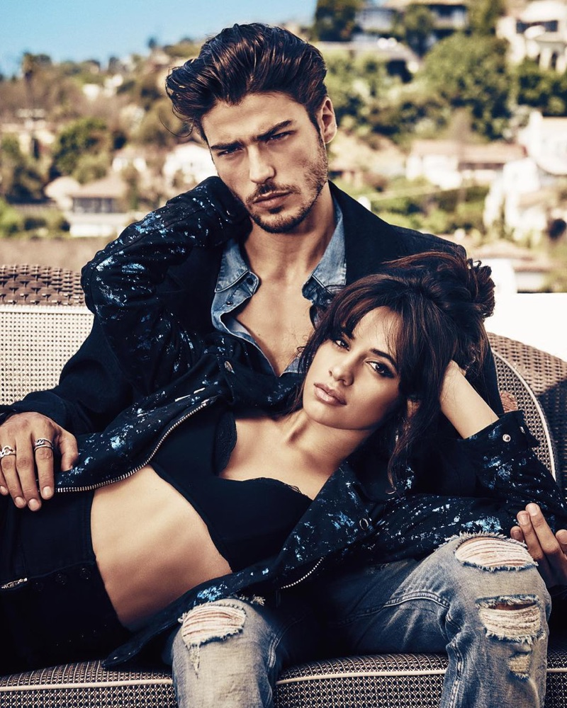 Singer Camila Cabello and model Alex Dellisola appear in Guess' Holiday 2017 campaign