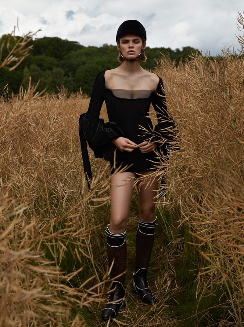 Cara Taylor Models Equestrian Inspired Styles for Vogue Japan
