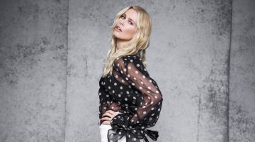 Claudia Schiffer Embraces Black & White Fashion for The Edit