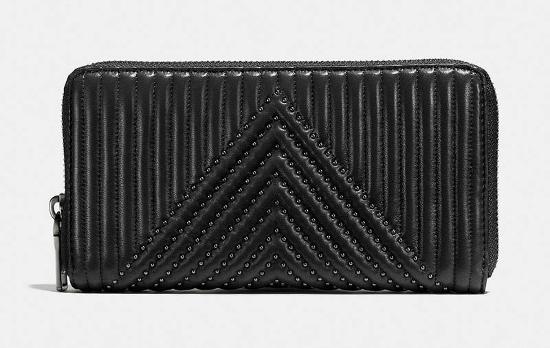 Coach Accordion Zip Wallet with Quilting and Rivets $262.50 (previously $375)