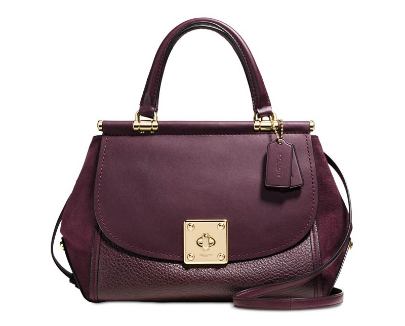 Coach 'Drifter' Mixed Leather Handbag $357 (previously $595)