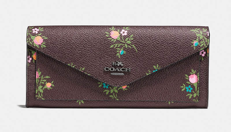 Coach Soft Wallet with Cross Stitch Floral Print $105 (previously $150)