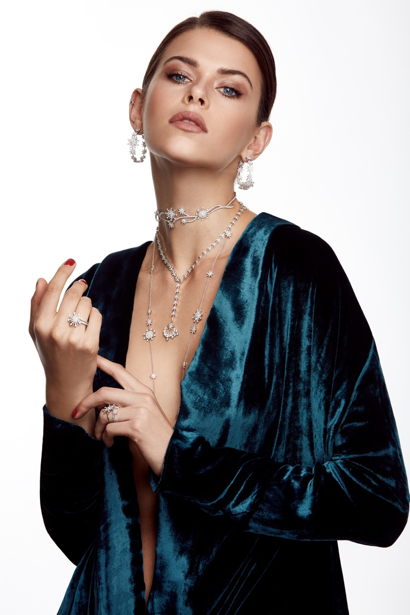 An image from Colette Jewelry latest campaign starring Georgia Fowler