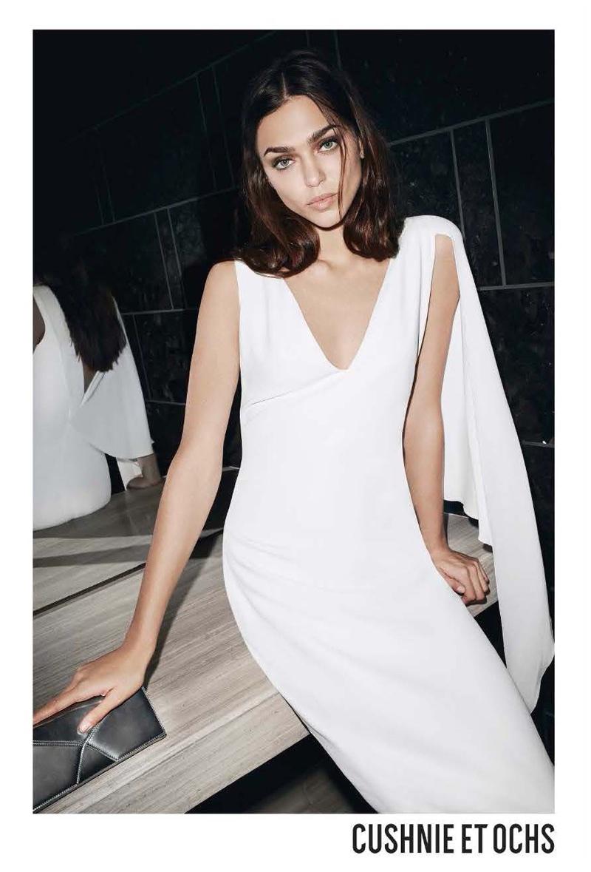 Cushnie et Ochs spotlights white dress for resort 2018 campaign