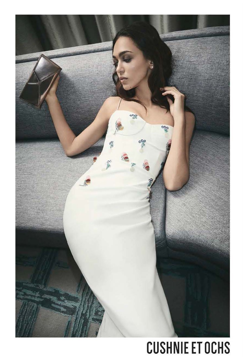 An image from Cushnie et Ochs' resort 2018 advertising campaign