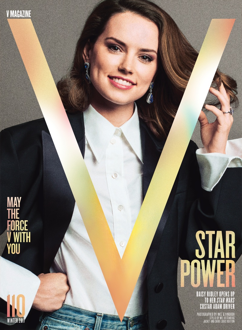 Daisy Ridley on V Magazine #110 Winter 2017 Cover