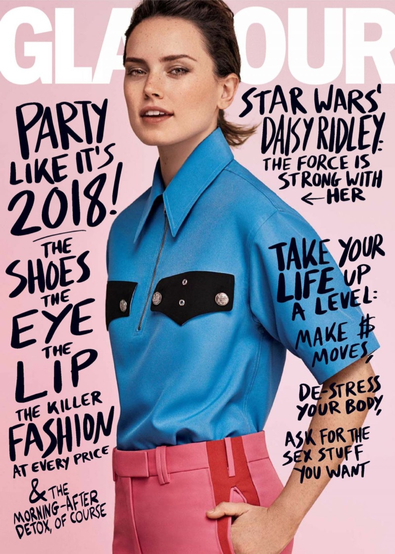 Daisy Ridley on Glamour Magazine January 2018 Cover