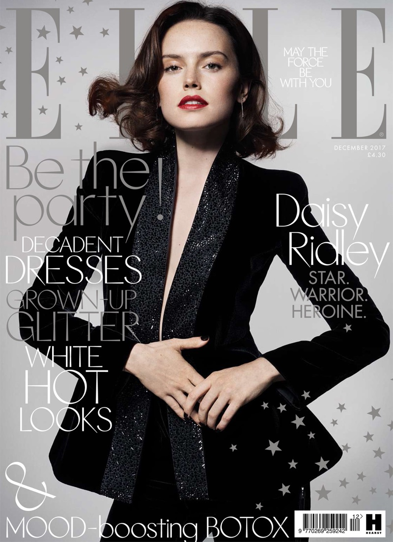 Daisy Ridley on ELLE UK December 2017 Cover