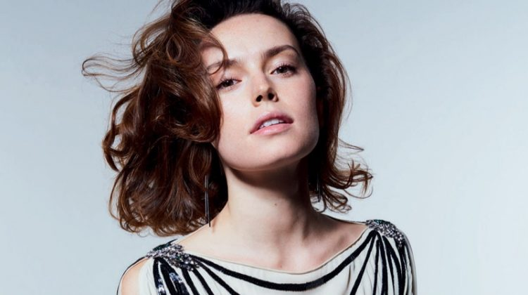 Daisy Ridley Wears Gorgeous Dresses in ELLE UK