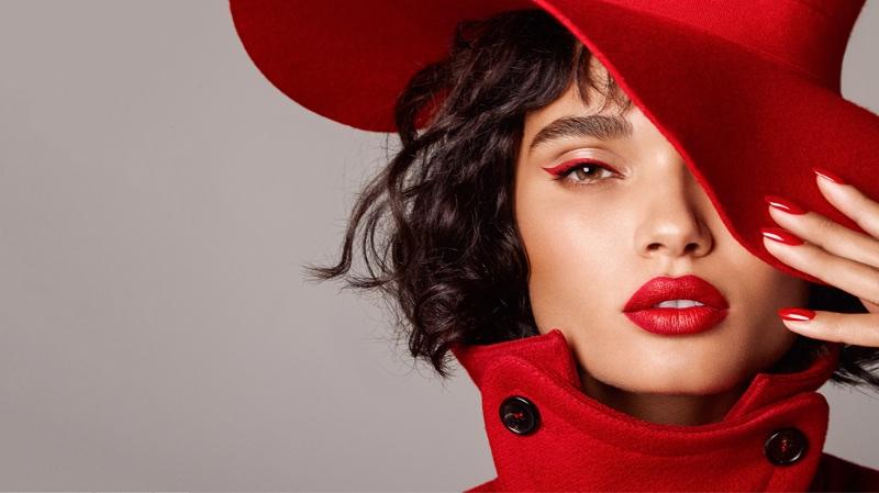 Daniela Braga Poses in Red-Hot Fashions for Harper's Bazaar