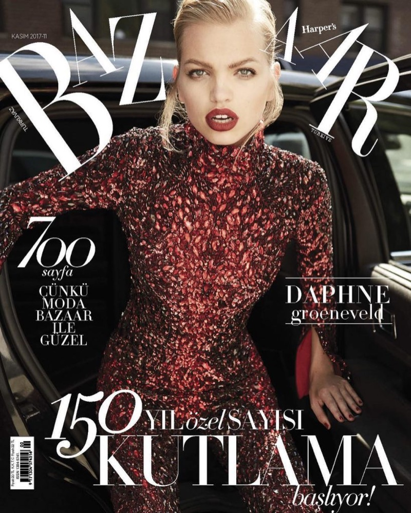 Daphne Groeneveld on Harper's Bazaar Turkey November 2017 Cover