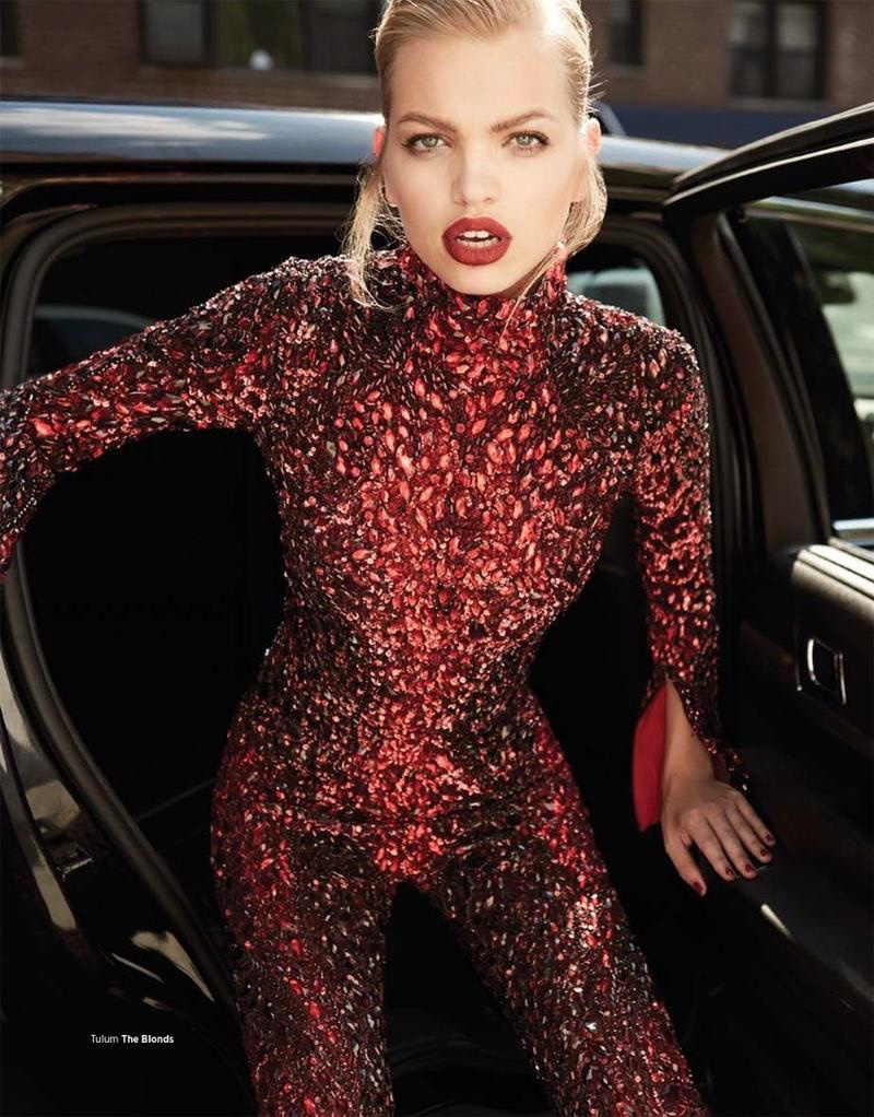 Daphne Groeneveld Poses in Glamorous Looks for Harper's Bazaar Turkey