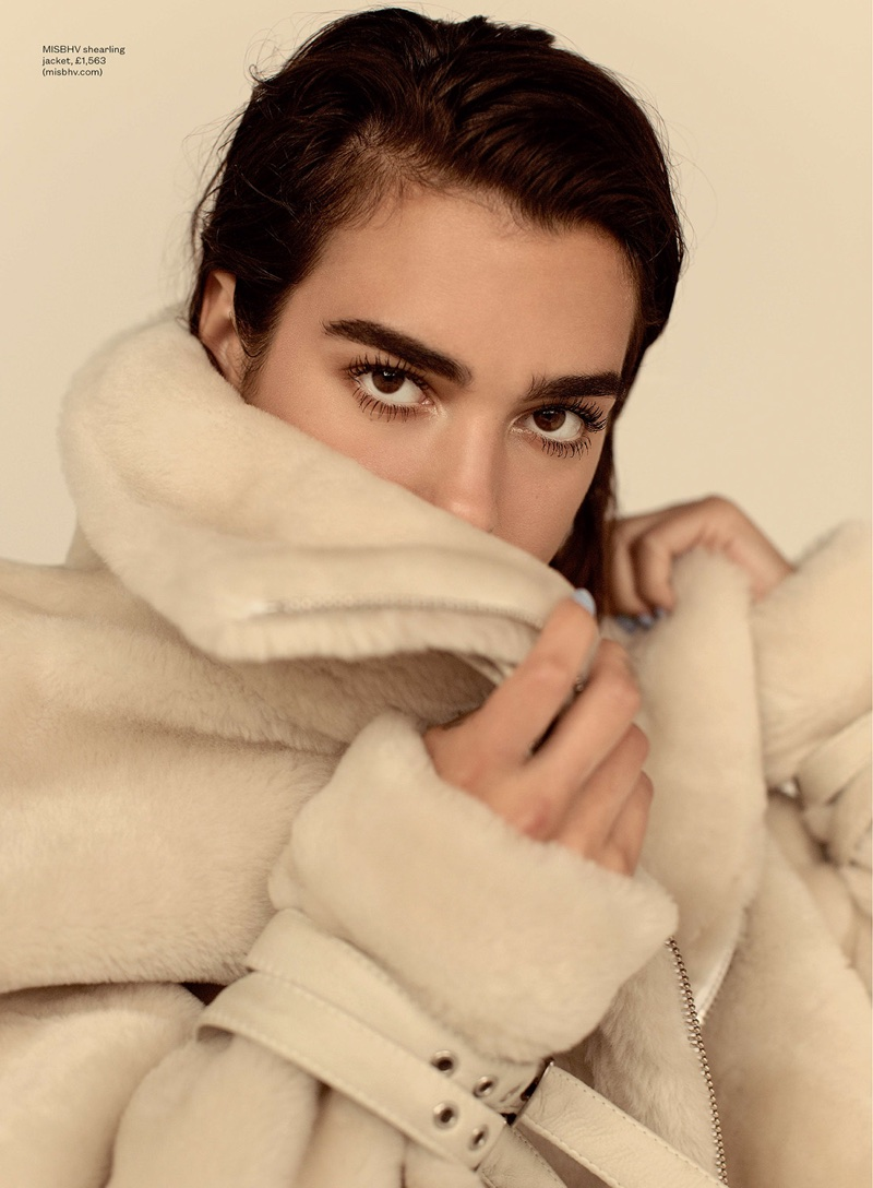 Covering up, Dua Lipa wears MISBHV shearling jacket