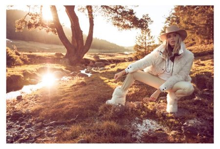 Elena Perminova Poses in Rugged Styles for Marie Claire Turkey
