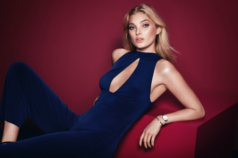 Elsa Hosk poses in Daniel Wellington Holiday 2017 campaign