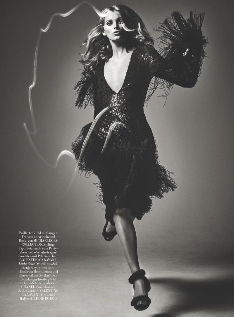 Elsa Hosk Poses in the Prettiest Dresses for Harper's Bazaar Germany