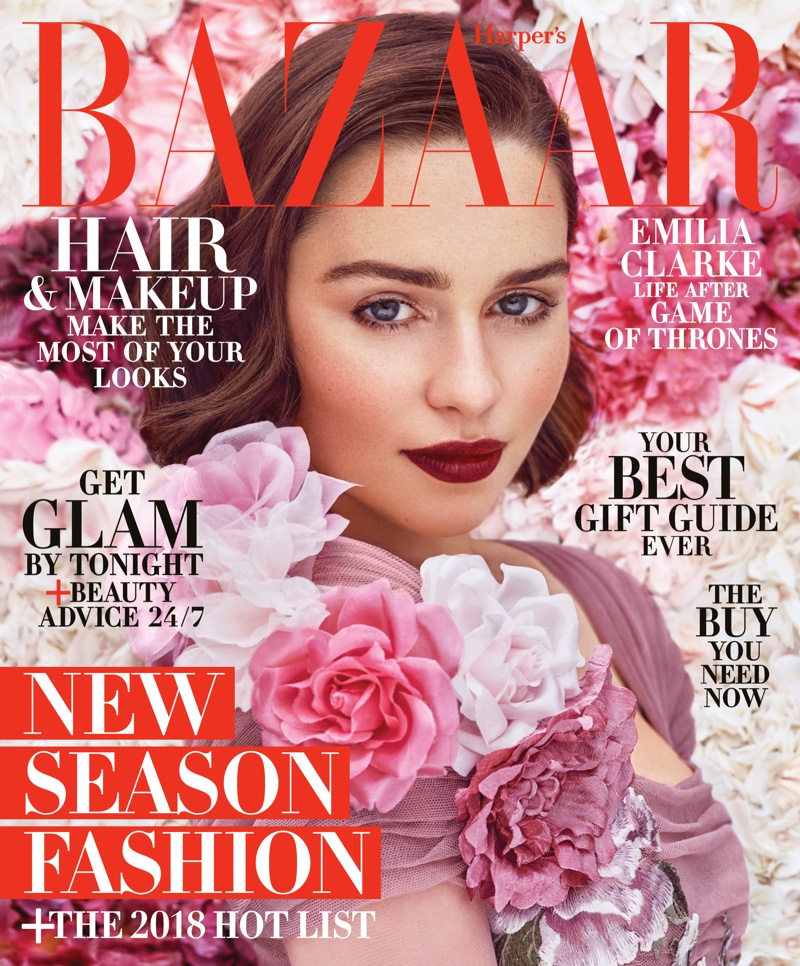 Emilia Clarke on Harper's Bazaar US December / January 2017.18 Cover