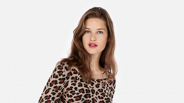 Express Leopard Print Fitted Sweater $41.94 (previously $69.90)