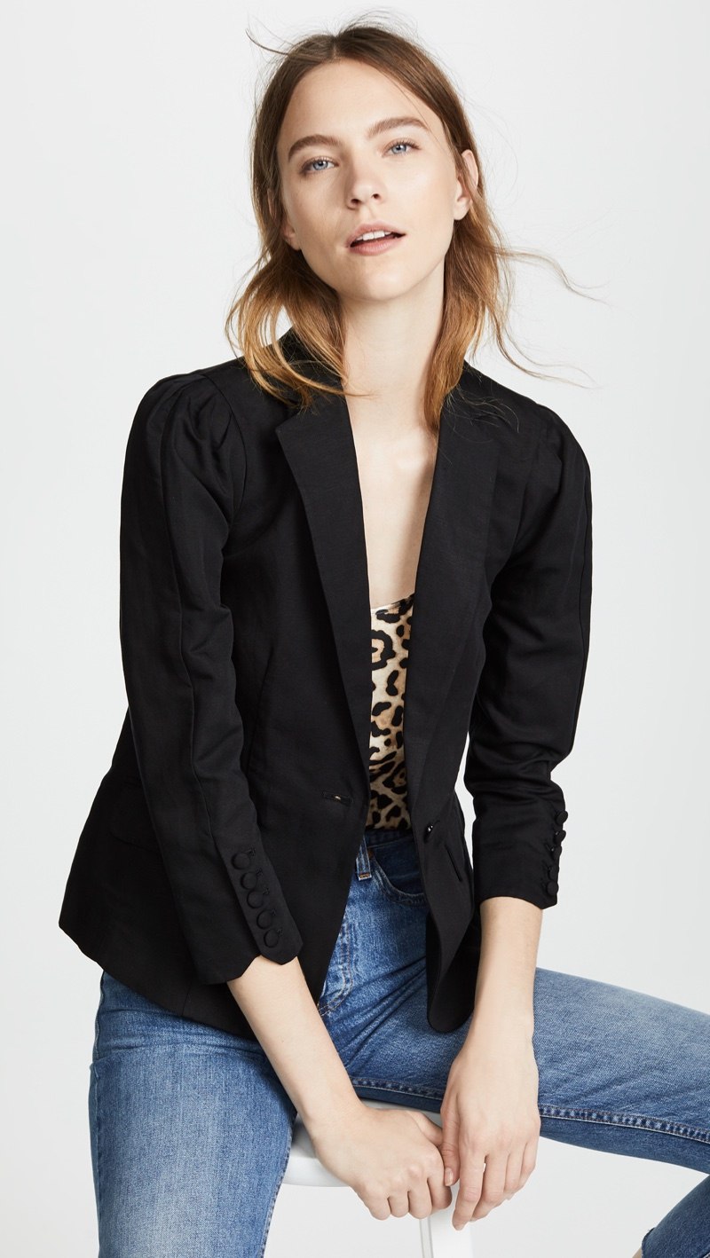 FRAME Pleated Blazer $150 (previously $375)
