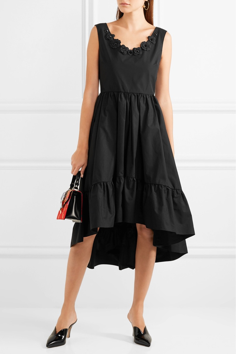 Fendi Appliquéd Cotton-Taffeta Midi Dress $1,396.50 (previously $1,995)