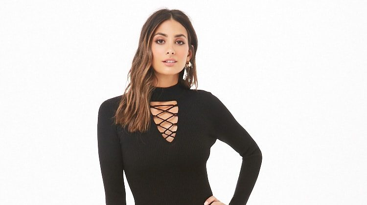 Forever 21 Caged Sweater-Knit Dress $6.36 (previously $15.90)
