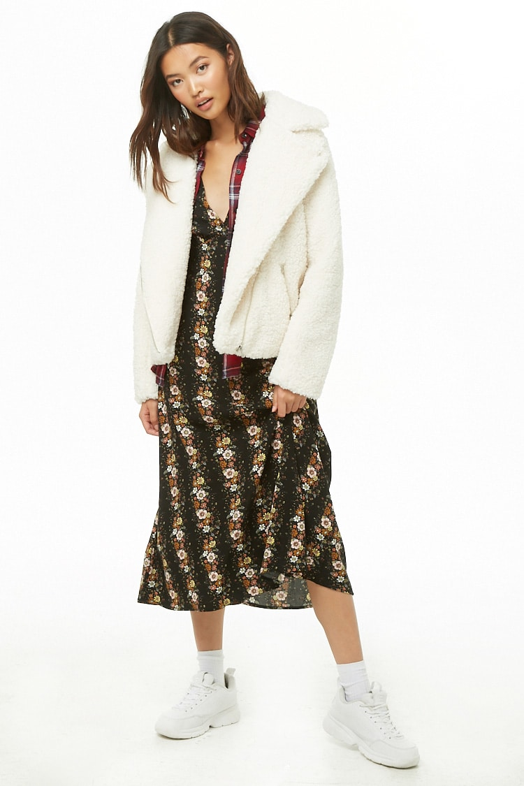 Forever 21 Faux Shearling Moto Jacket $21.96 (previously $54.90)