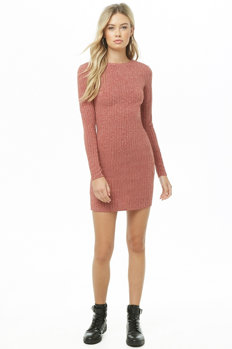 Forever 21 Ribbed Sweater Dress in Rust $5.96 (previously $14.90)