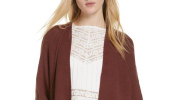 Free People Irreplaceable Cardigan in Plum $128 (previously $148)