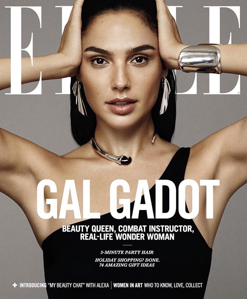 Gal Gadot on ELLE US December 2017 Cover
