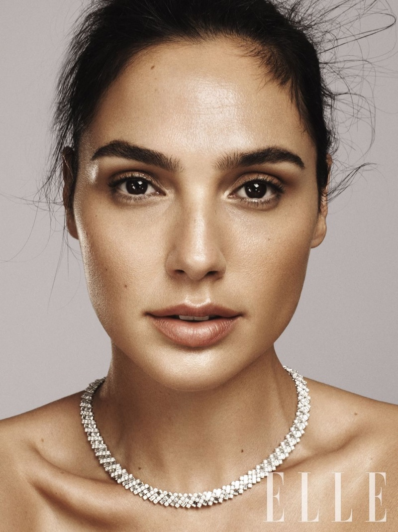 Actress Gal Gadot wears Cartier necklace