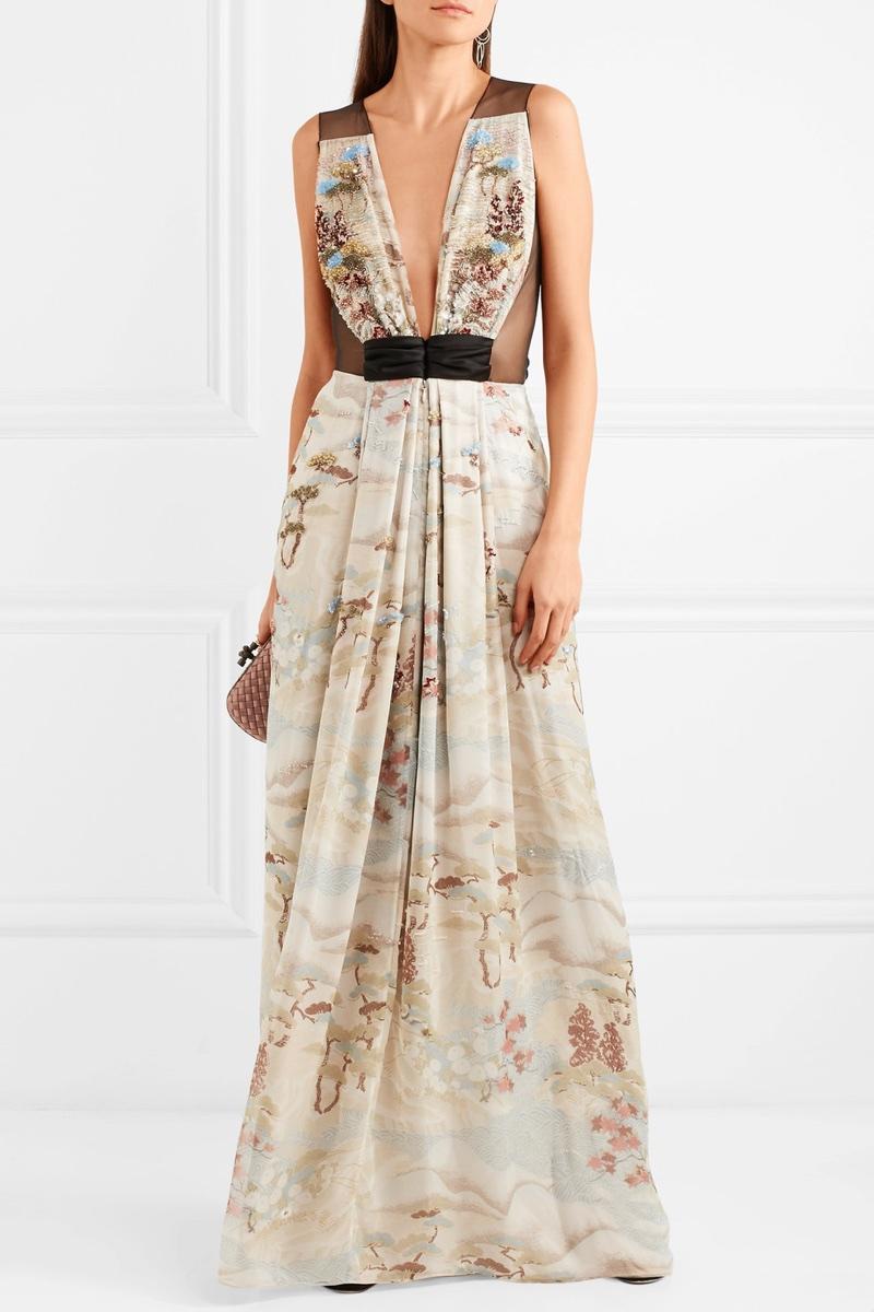 Giorgio Armani Embellished Tulle Silk-Organza Gown $14,295