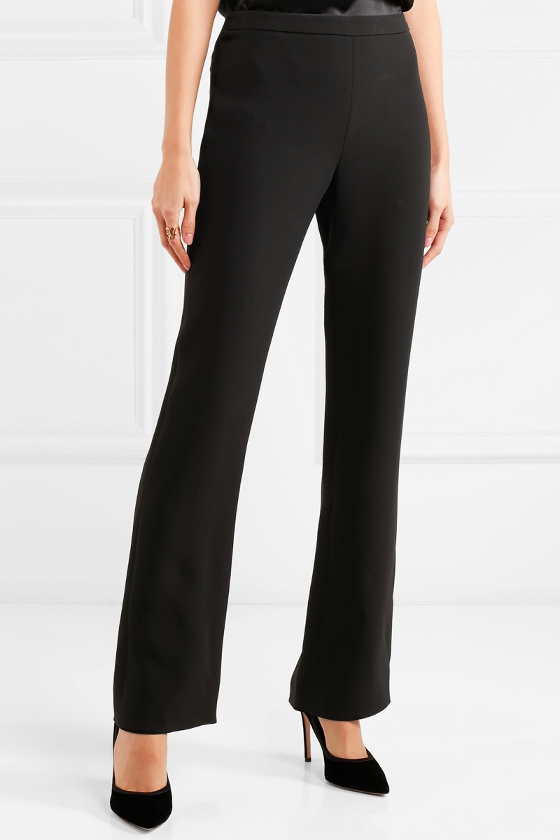 Giorgio Armani Silk-Crepe Straight-Leg Pants $1,495