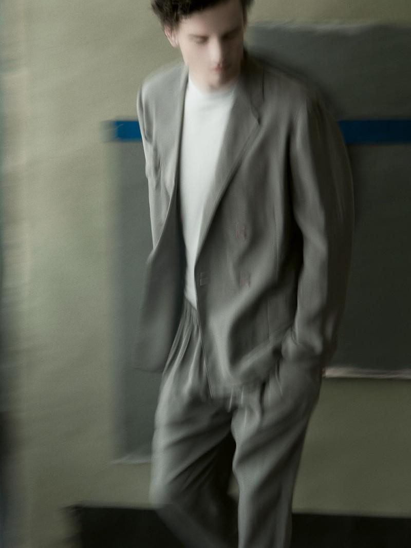 Simon Nessman stars in Giorgio Armani's spring-summer 2018 campaign