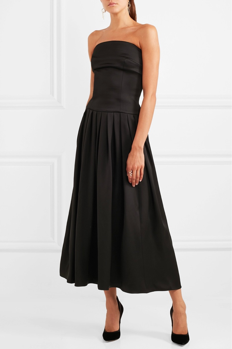Giorgio Armani Strapless Silk Midi Dress $6,795