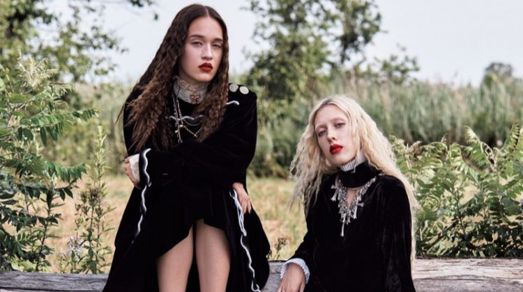 Tyg & Elizabeth Davison Wear Gothic Styles in Vogue Japan