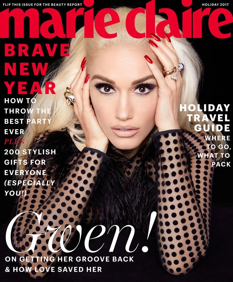 Gwen Stefani on Marie Claire US Holiday 2017 Cover