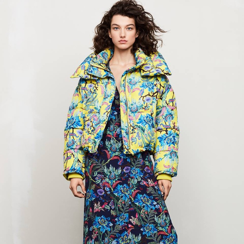 H&M Padded Jacket and Patterned Dress