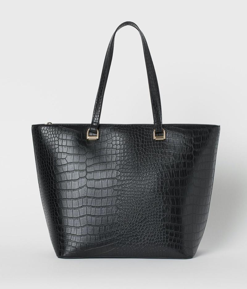 H&M Crocodile-Patterned Shopper Bag $34.99