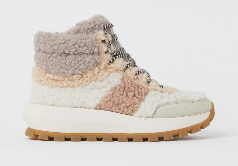 H&M Faux Shearling High Tops $54.99
