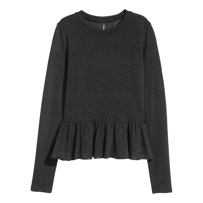 H&M Glittery Peplum Sweater $7 (previously $18)