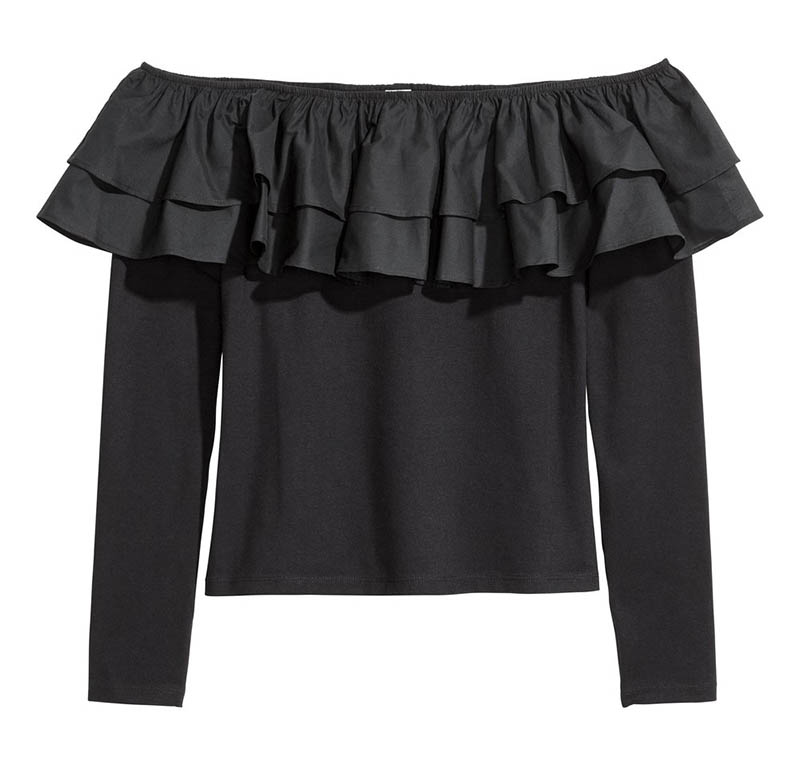 H&M Off-the-Shoulder Top $5 (previously $13)