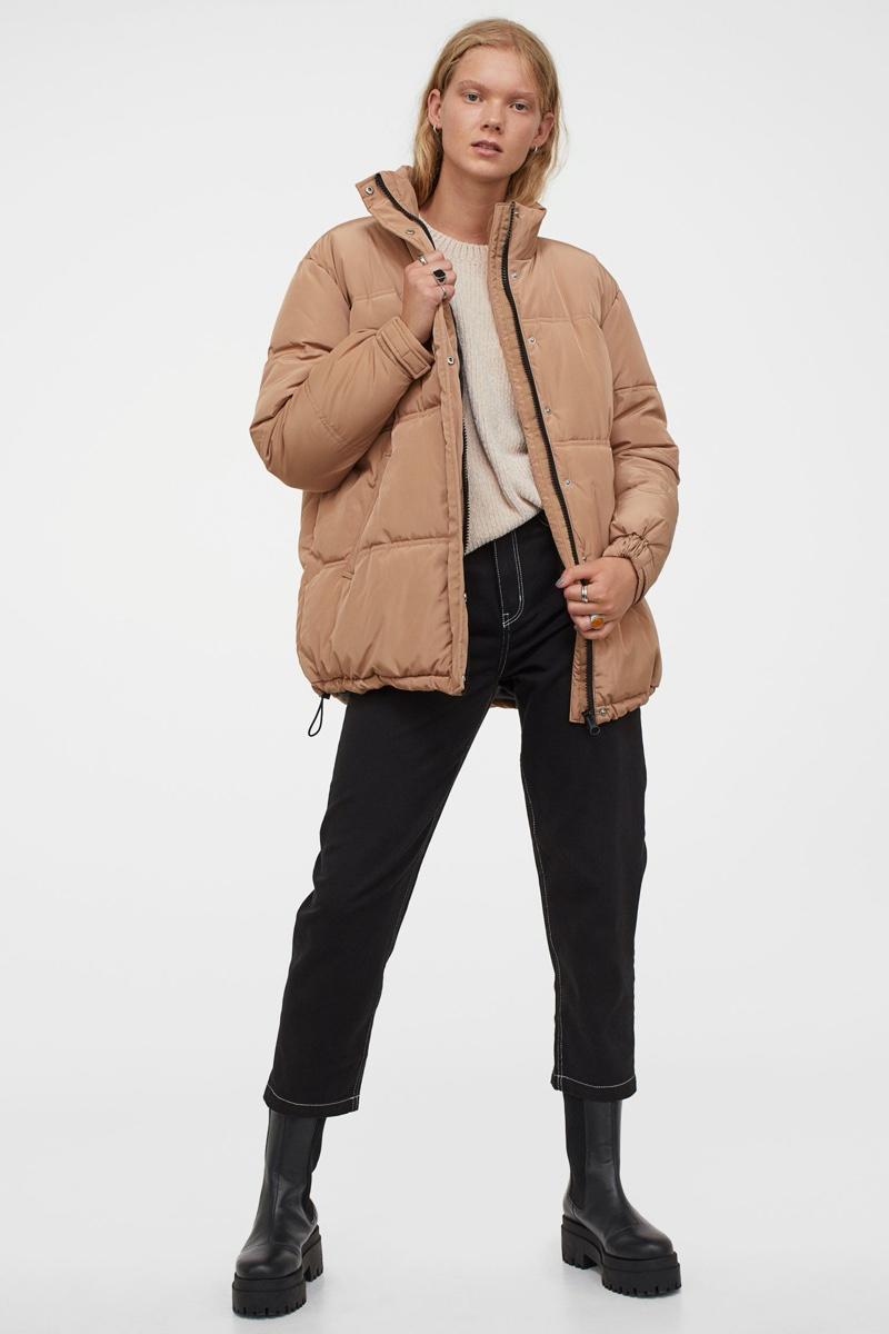 H&M Oversized Jacket in Beige $59.99